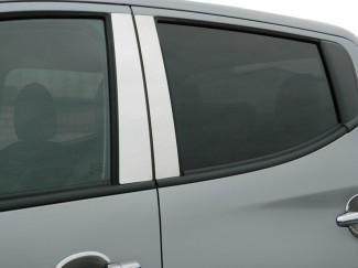 Stainless Steel Door Pillar Trims For The Mitsubishi L200 2015 On