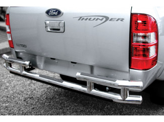 Mitsubishi L200 Mk3 And 4 Double Straight Rear Bar