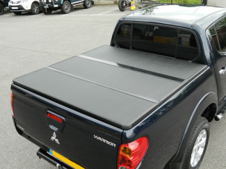 Alloy Tri-Fold Heavy Duty Tonneau Cover For Mitsubishi L200 Long Bed 2010 On