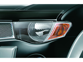 Mitsubishi L200 Mk5 05-09 Single Cab Clear Acrylic Head Light Protector Covers - Pair