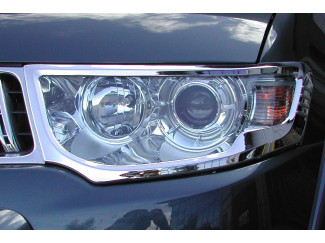 Mitsubishi Pajero Sport 08 on Chrome Head Light Covers