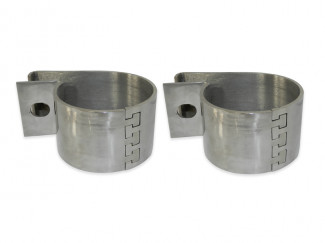 Pair Of Stainless Steel Light Brackets By Steeler For 60mm Bar