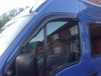 Front Pair Of Wind Deflector Visors For Renault Master Van 1998 To 2010