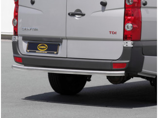 Rear Bumper protectors by Cobra for a VW Crafter Brushed MWB 60mm Stainless Steel