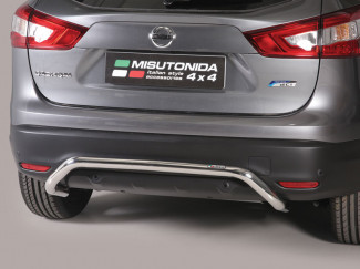 Nissan Qashqai 2017 On 50mm Rear Bar - Stainless Steel Finish