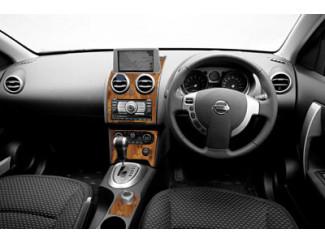 Nissan Qashqai And Qashqai+2 2007 Toi 2014 (With Pop-up Satnav in Dash Top) Wood Look  Dash Trim Kit