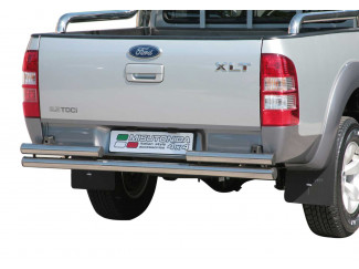 Ford Ranger 3 Stainless Steel Double Straight Rear Bar Non Tow (Mach)