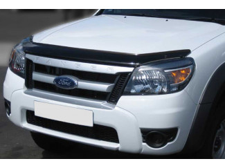 Ford Ranger 2009-2012 Dark Smoke Bonnet Guard