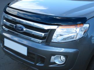 2012-2016 Ford Ranger T6 Dark Smoke Bonnet Guard