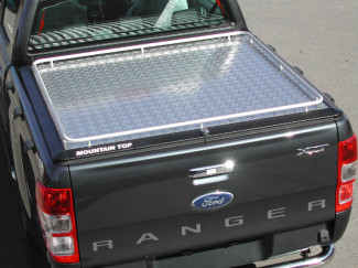 Ford Ranger Mk5 Extra Cab Load Bed Cover - Mountain Top Continous Rail