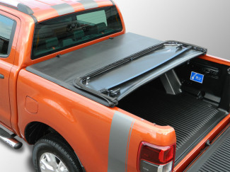 2012 On New Ford Ranger Double Cab Soft Tri-Folding Tonneau Cover