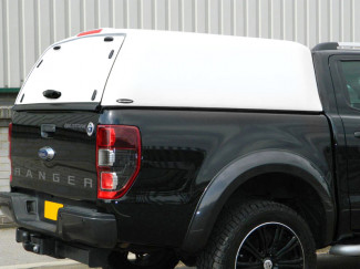 White Carryboy High Capacity Hard Top With Solid Rear Door For Ford Ranger Mk5 2012 Onwards