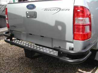 Ford Ranger 1-2-3 And 4 Black Wrap Around Rear Bar With Tow Facility