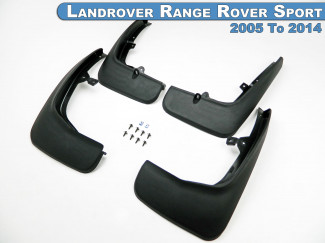 Mud Flap Kit 4pc Set For the Landrover Range Rover Sport 05 To 14