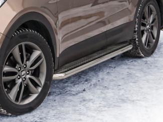 Hyundai Santa-Fe 12 Onwards Stainless Steel 76mm Side Bars