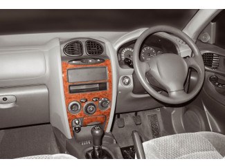 Hyundai Santa Fe Santa Fe Mk1 - 03  Wood Look  Dash Trim Kit