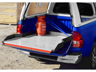 Nissan Navara D40 Wide Sliding Chequer Plate Heavy Duty Bed Slide