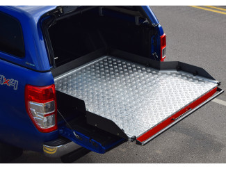 New Ford Ranger 2019 On Heavy Duty Wide Chequer Plate Deck Bed Sliding Tray