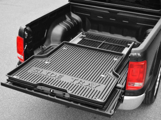 Toyota Hilux 16 Onwards Sliding Steel Bedtray With Plastic Top
