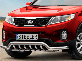 Kia Sorento 12-14 Stainless Steel 70mm Nudge Bar