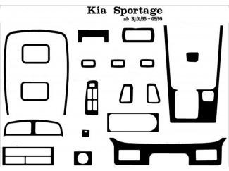 Kia Sportage Mk1 Carbon Style Dash Trim