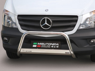 Mercedes Sprinter 2014 On Facelift Stainless Steel EU Approved A-Bar 63mm By Mach