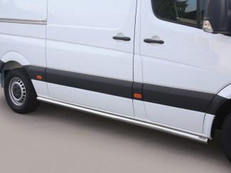 Stainless Steel Side Bar Set For MWB Mercedes Sprinter 2014 On Facelift