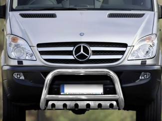 Stainless Steel 70mm Bull Bar For Mercedes Sprinter 14 Onwards