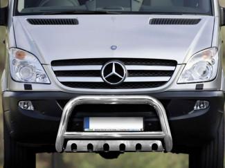 Stainless Steel 70mm Bull Bar For Mercedes Sprinter 06-13