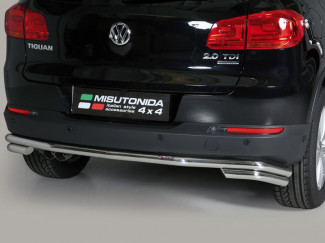 Stainless Steel Rear Bumper Double Bar Volkswagen Tiguan 2011 On