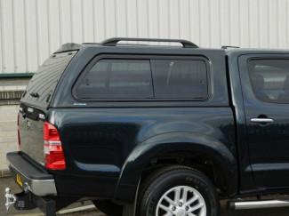 Toyota Hilux Mk6 Double Cab Aeroklas Hard Top Canopy Windowed