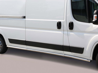 Peugeot Boxer 14 Onwards LWB Stainless Steel 63mm Side Bars
