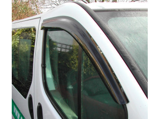 Front Pair Of Wind Deflector Visors For Renault Traffic Van 2001 To 2013