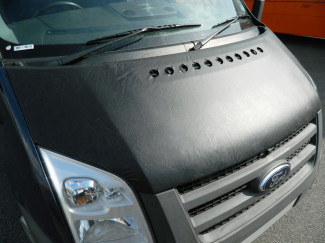 Ford Transit Mk7 Black Leatherette Bonnet Bra