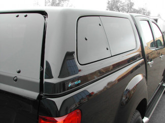 2012 On Isuzu D-Max Right Hand Pop Out Window Set For Aeroklas Canopy