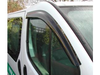 Front Pair Of Wind Deflector Visors For Vauxhall Vivaro Van 2001 To 2013