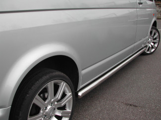 VW T5 LWB Stainless Steel Side Bars for Van Caravelle and Multivan Models