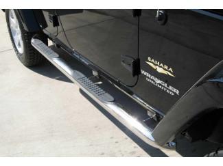 Jeep Wrangler Jk 07- Lwb Stainless Steel  Side Bars