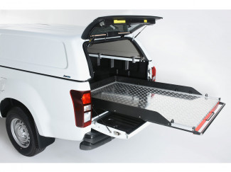 Extra Cab Chequer-Plate Deck Heavy Duty Bed Slide
