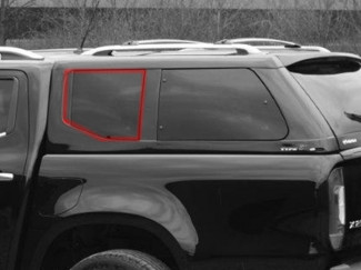 Alpha Canopy Type-E Left Hand Side Fixed Glass - Various Vehicles