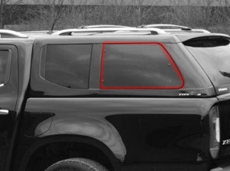 Alpha Type E Left Hand Side Pop Out Window Glass - Various Vehicles