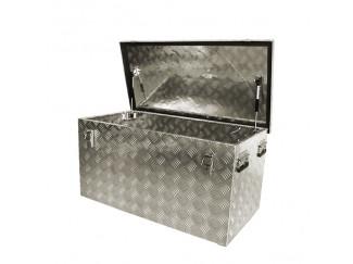 ALUMINIUM CHEQUER PLATE TOOL BOX / STORAGE BOX 1020MM LARGE