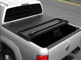 Hard Tri-Folding Tonneau Cover For The Isuzu D-Max 2012 on - Vinyl Finish