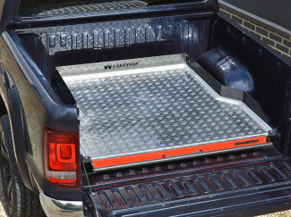 Chequer-Plate Deck Wide Heavy Duty Bed Slide For The VW Amarok