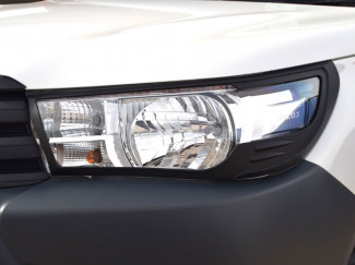 Toyota Hilux 2016 Onwards Black Head Lamp Covers - Active and Icon Models