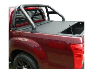 Black single hoop sports roll bar for Isuzu Dmax
