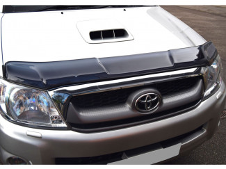 Toyota Hilux Mk6 Dark Smoke Bonnet Guard Type 2