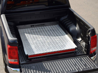 VW Amarok Carryboy Sliding Chequer Plate Heavy Duty Bed Slide