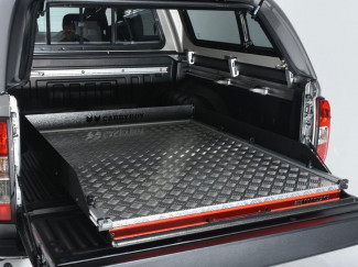 Carryboy Sliding Chequer Plate Heavy Duty Bed Slide For The New Nissan Navara NP300