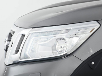 Nissan Navara NP300 16 On Chrome Head Lamp Covers